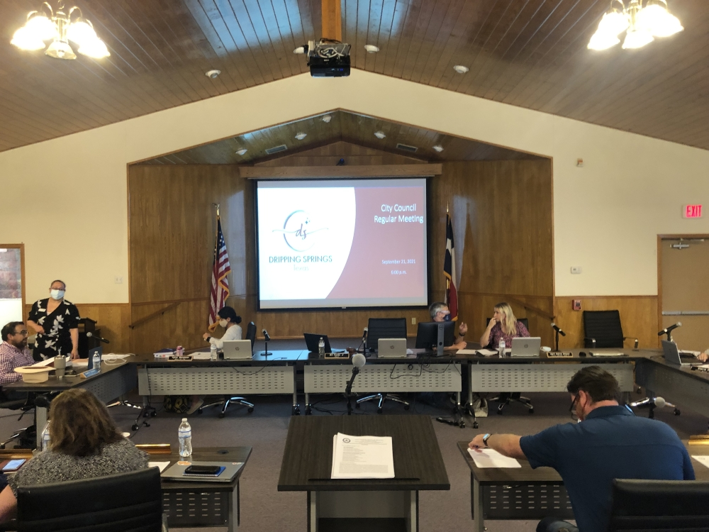 The Dripping Springs City Council voted to approve the budget and the ad valorem tax rate Sept. 21. (Maggie Quinlan/Community Impact Newspaper)