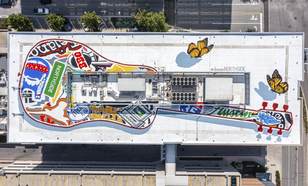 Domain Northside rooftop mural