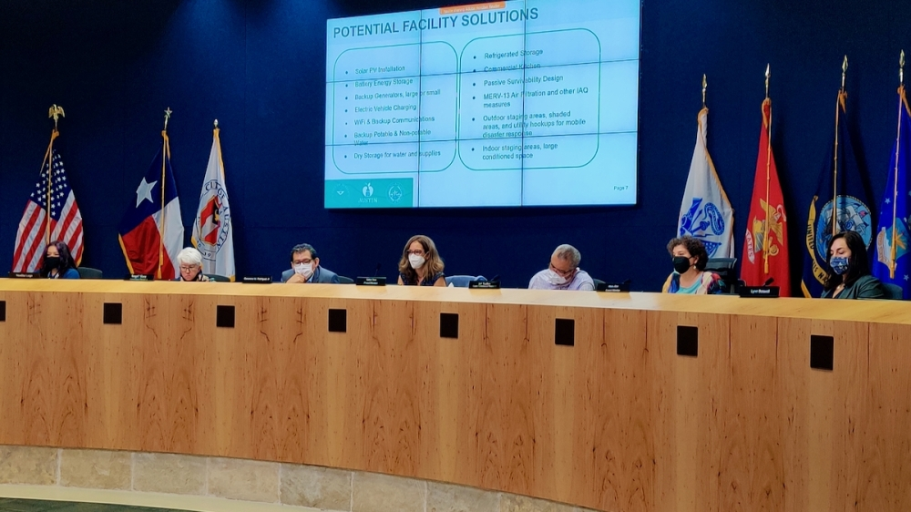 Austin, Travis County and Austin ISD officials gathered Sept. 24 to discuss local resilience planning. (Ben Thompson/Community Impact Newspaper)