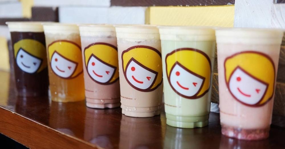 The Chinese boba company sells a variety of fruit teas, milk teas, cheese teas, smoothies and slushies. (Screenshot via Happy Lemon)
