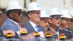 Plano Mayor John Muns and former Mayor Harry LaRosiliere attended the Sept. 24 groundbreaking event. (Erick Pirayesh/Community Impact Newspaper)