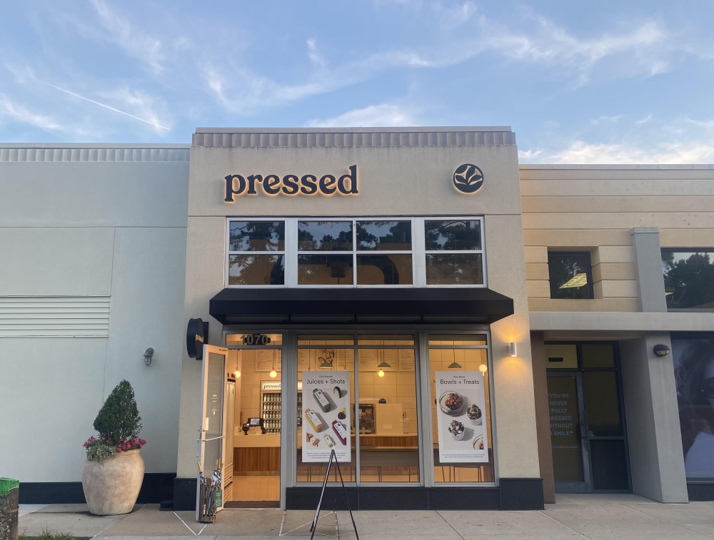 Pressed and Peloton opened in Market Street in September. (Ally Bolender/Community Impact Newspaper)