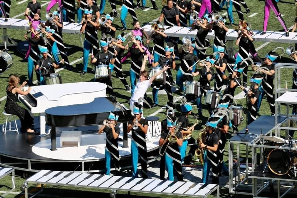 The Johnson High School marching band placed second in the Bands of America Austin region contest Sept. 25 at the Kelly Reeves Athletic Complex. Johnson High School and the other six North East ISD high school marching bands will be in NEISD's fall marching festival Sept. 28. (Courtesy North East ISD)