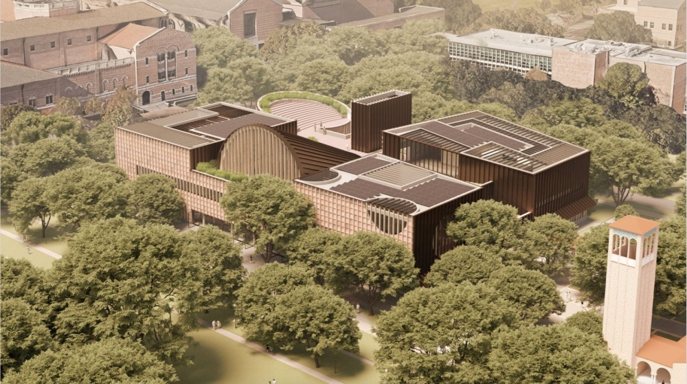 The planned Moody Center for Student Life and Opportunity at Rice University will be designed by the London-based Adjaye Associates. (Rendering courtesy Adjaye Associates)