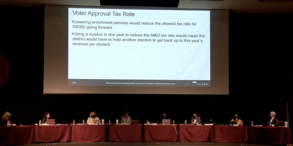 Dripping Springs ISD board of trustees voted on their annual tax budget on Sept. 27. (Courtesy Dripping Springs ISD)