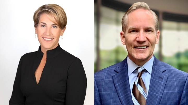 Stephanie Williams and Andrew Yeager are both running for Carroll ISD's Place 7 seat in the November election. (Courtesy Stephanie Williams and Andrew Yeager campaigns)