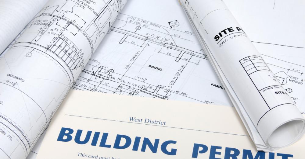 building permits on desk