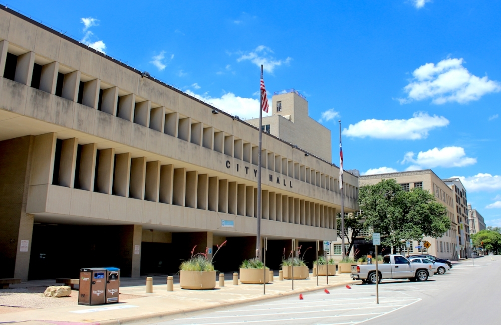 the exterior of Fort Worth City Hall