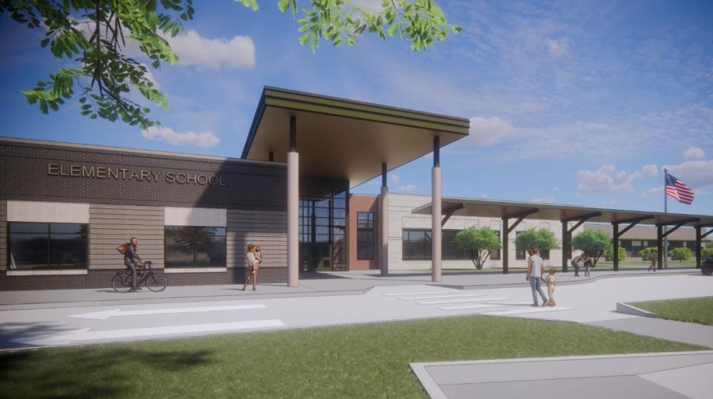 school entrance rendering