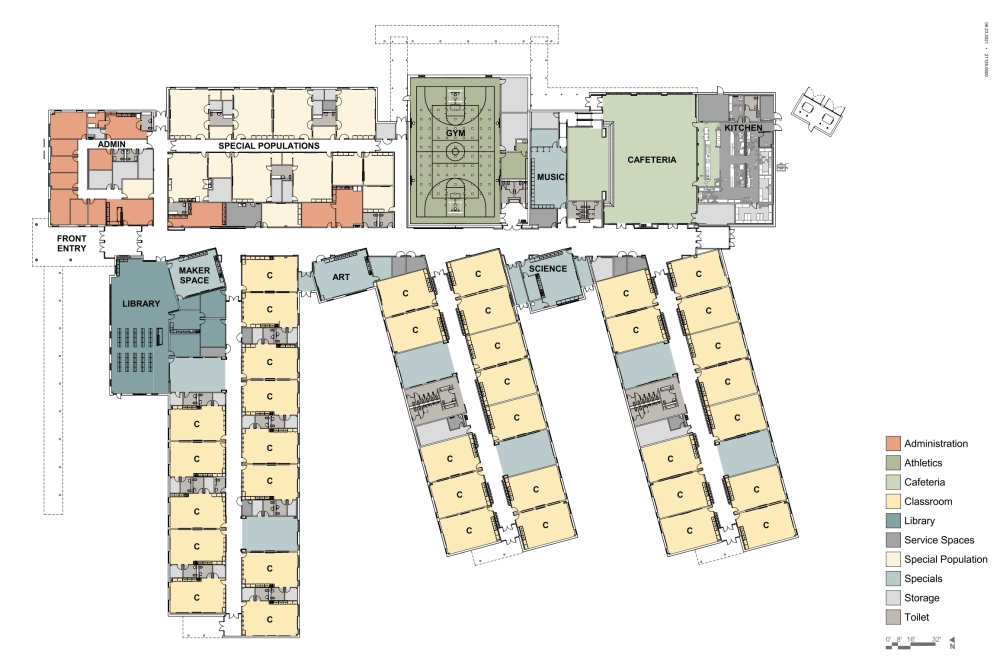 The gym in McKinney ISD's 22nd elementary school will double as a tornado shelter. (Courtesy McKinney ISD)