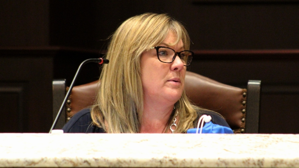 Councilmember Holly Gray-Moore, who chaired the Roanoke Home Rule Charter Review Commission, presented the group's recommendations to council. (Sandra Sadek/Community Impact Newspaper)