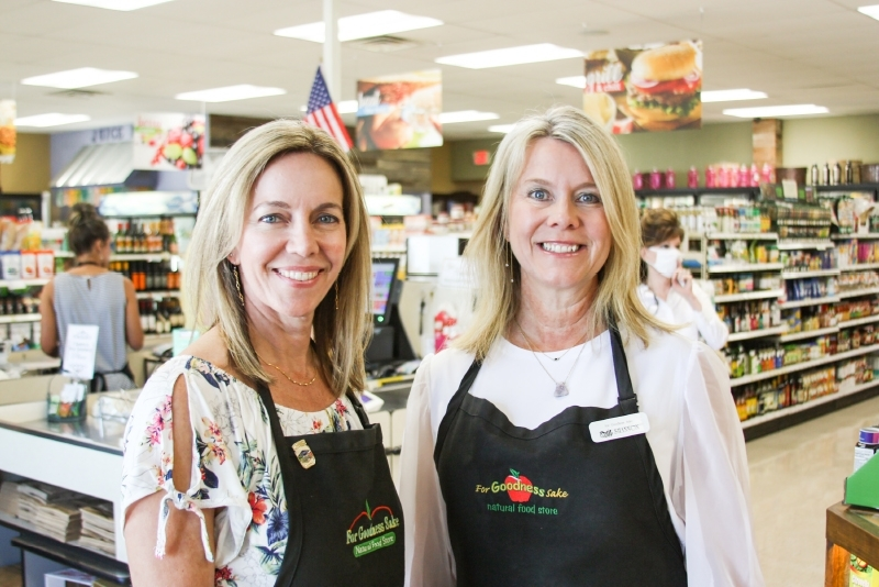 From left: Lauren Krock and Shannon Hanz own the shop. (Lauren Canterberry/Community Impact Newspaper)