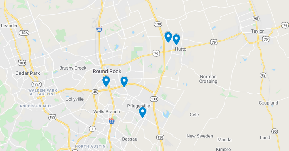 These permits have been filed through the Texas Department of Licensing and Regulation. (Screenshot courtesy Google Maps)