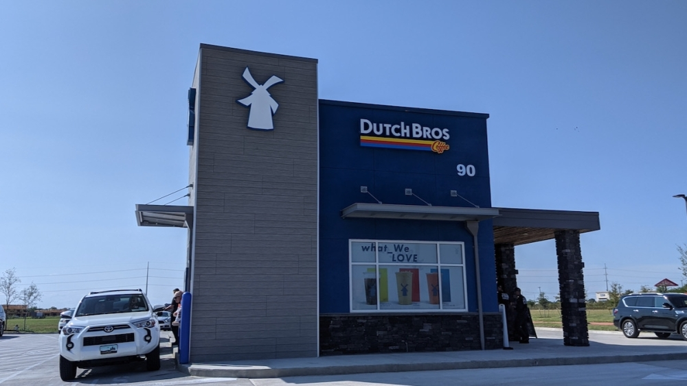 Dutch Bros Coffee's second Austin-area location is now open on Chris Kelley Boulevard in Hutto. (Carson Ganong/Community Impact Newspaper)