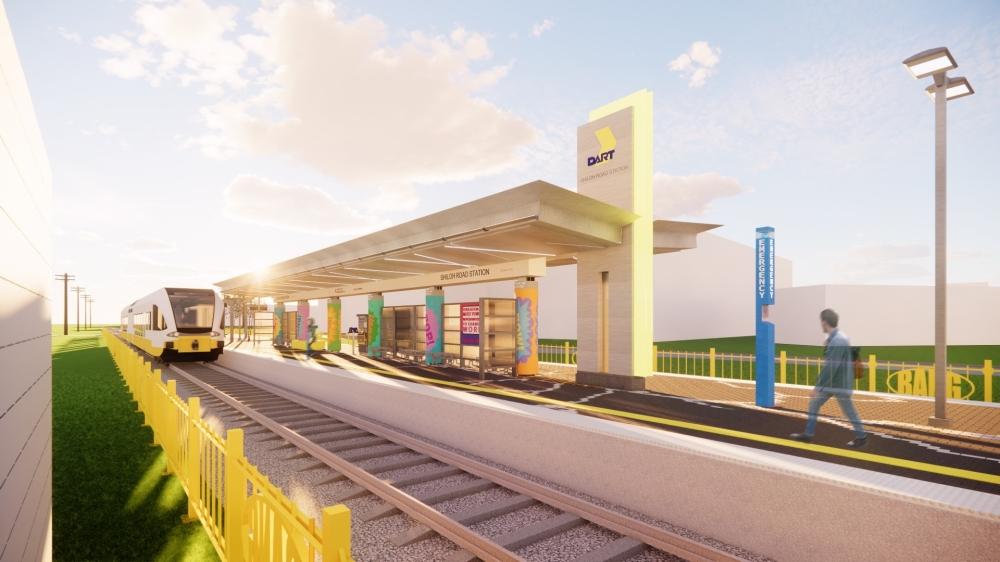 The Shiloh Road Station is the furthest east station in the Silver Line Corridor. (Courtesy DART)