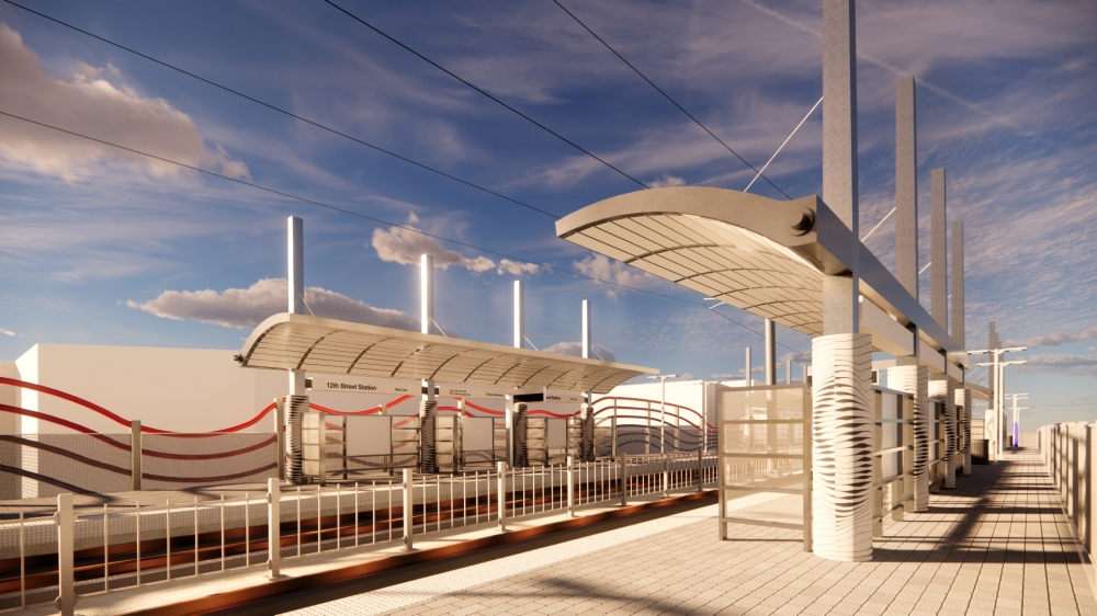 The inspiration for the 12 Street Station is the movement of air and the future, according to DART. (Courtesy DART)