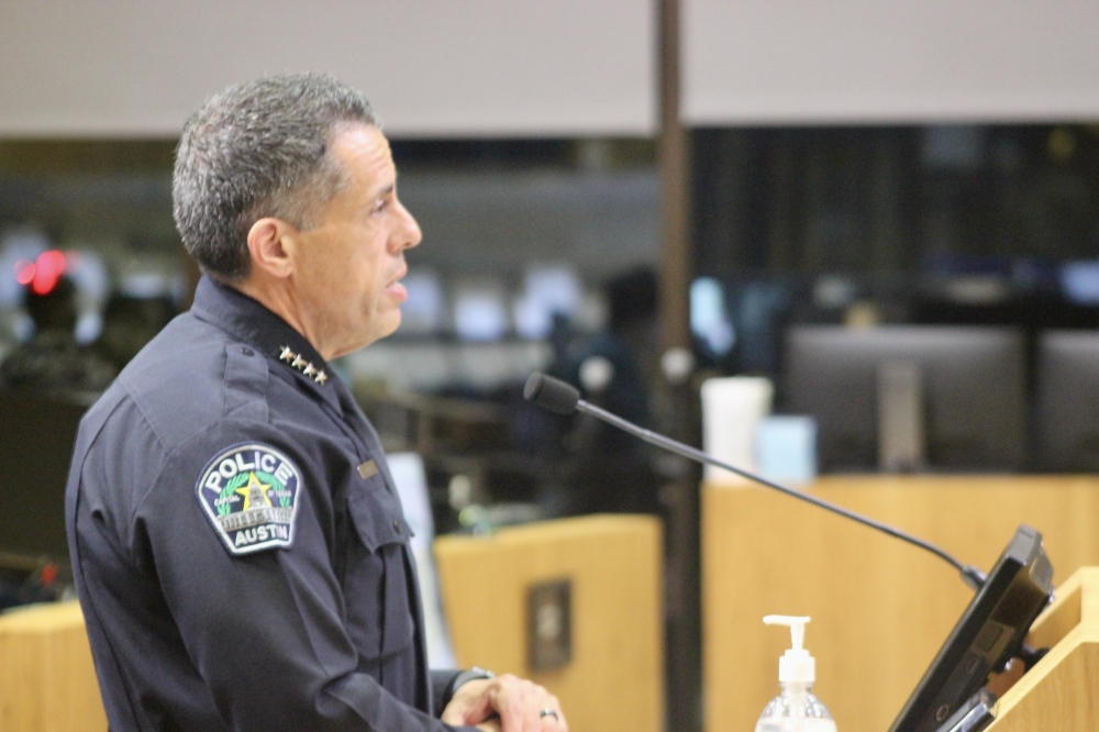 City Council members spent more than two hours questioning APD Chief Joseph Chacon before his appointment Sept. 30. (Ben Thompson/Community Impact Newspaper)