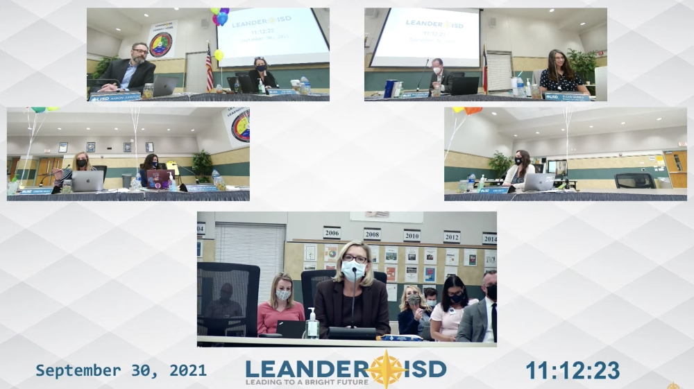 LISD board of trustees voted 4-2 to choose the appointment option with board members Aaron Johnson and Elexis Grimes in opposition. (Screenshot courtesy Leander ISD)