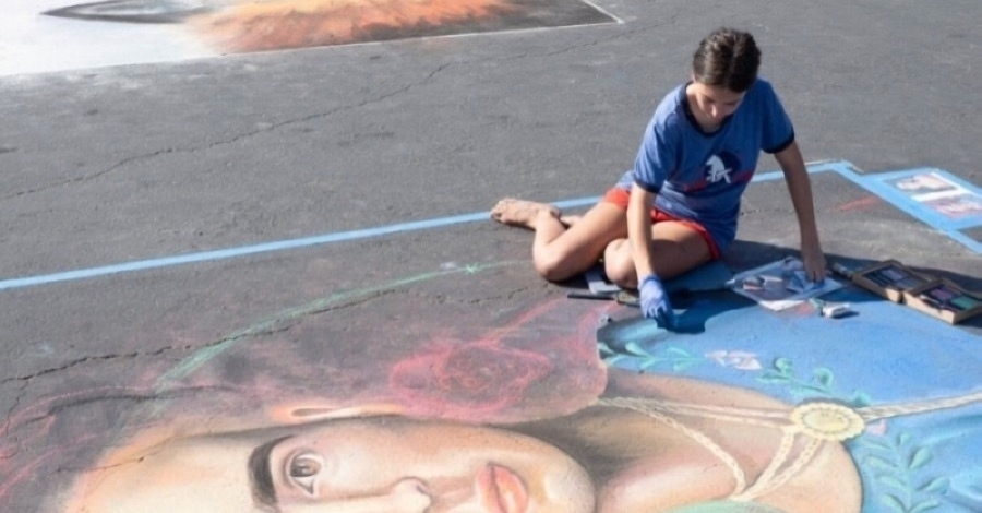 The city of Round Rock's 2021 Chalk Walk Arts Festival has been canceled due to bad weather. (Courtesy city of Round Rock)