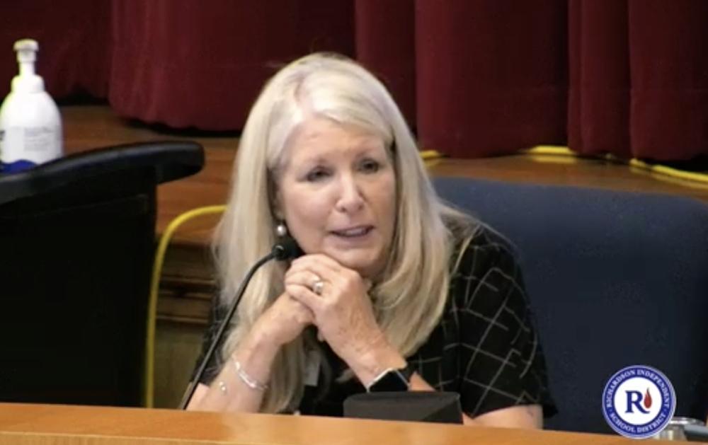 Richardson ISD board President Karen Clardy turned in a letter of resignation from the board Sept. 24. (Screenshot courtesy Richardson ISD)