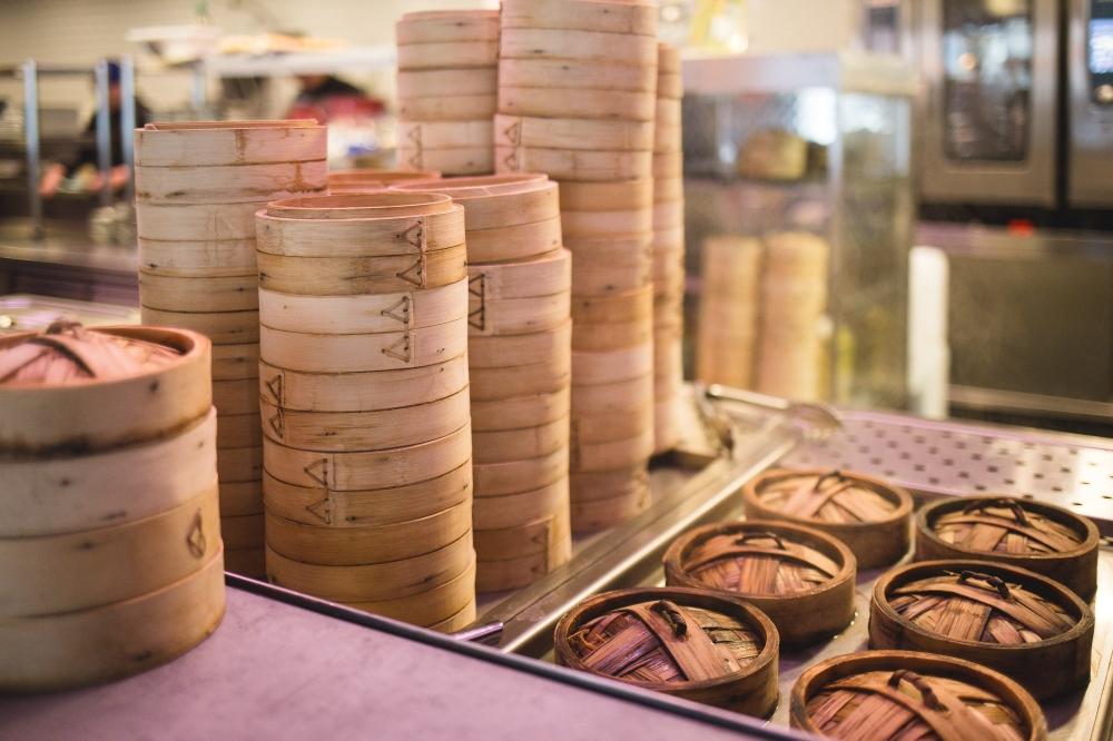 The restaurant offers more than 30 menu items, including shrimp and pork dumplings as well as red bean sesame balls, fried shrimp egg rolls and baked golden egg yolk lava buns. (Courtesy Unsplash)