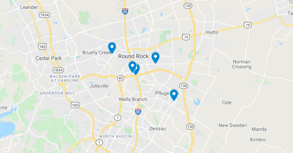 The following commercial permits have been filed through the Texas Department of Licensing and Regulation. (Screenshot courtesy Google Maps)