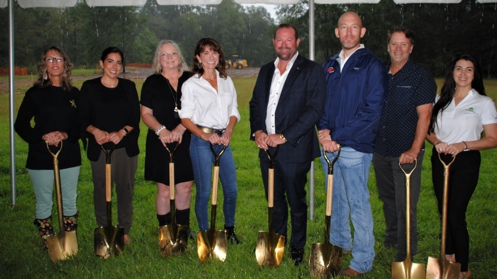 Members of The Signorelli Co. and Angel Reach broke ground at Angel Reach Village on Oct. 1. (Courtesy The Signorelli Co.)