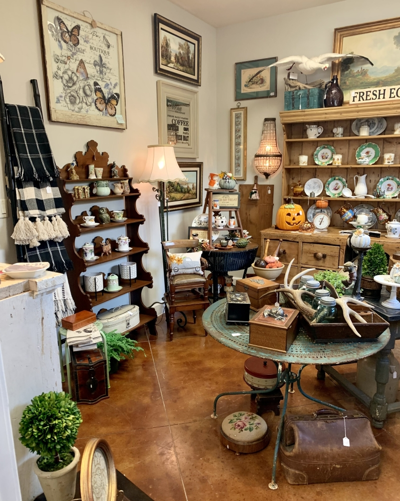 The gift shop sells decorative items including homemade candles and wall art made from farmhouse windows. (Courtesy Maryann Stripling)