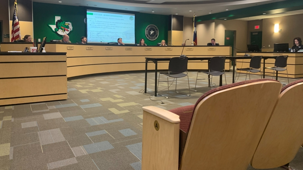 Carroll ISD's board of trustees approved amendments to the 2021-22 budget Oct. 4. (Sandra Sadek/Community Impact Newspaper)