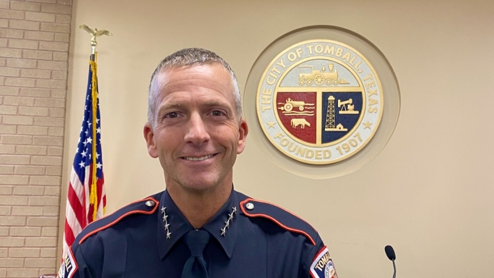 Jeff Bert took over as the police chief of Tomball in June 2020. (Chandler France/Community Impact Newspaper)