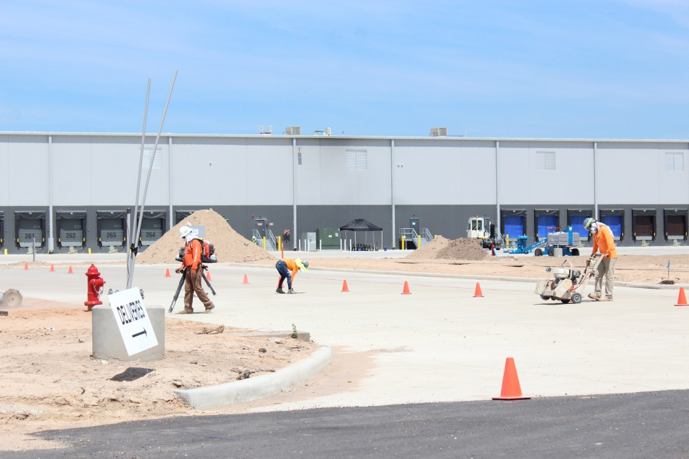 A Lowe's distribution center opened at the East Montgomery Improvement District Industrial Park in mid-September. (Emily Lincke/Community Impact Newspaper)