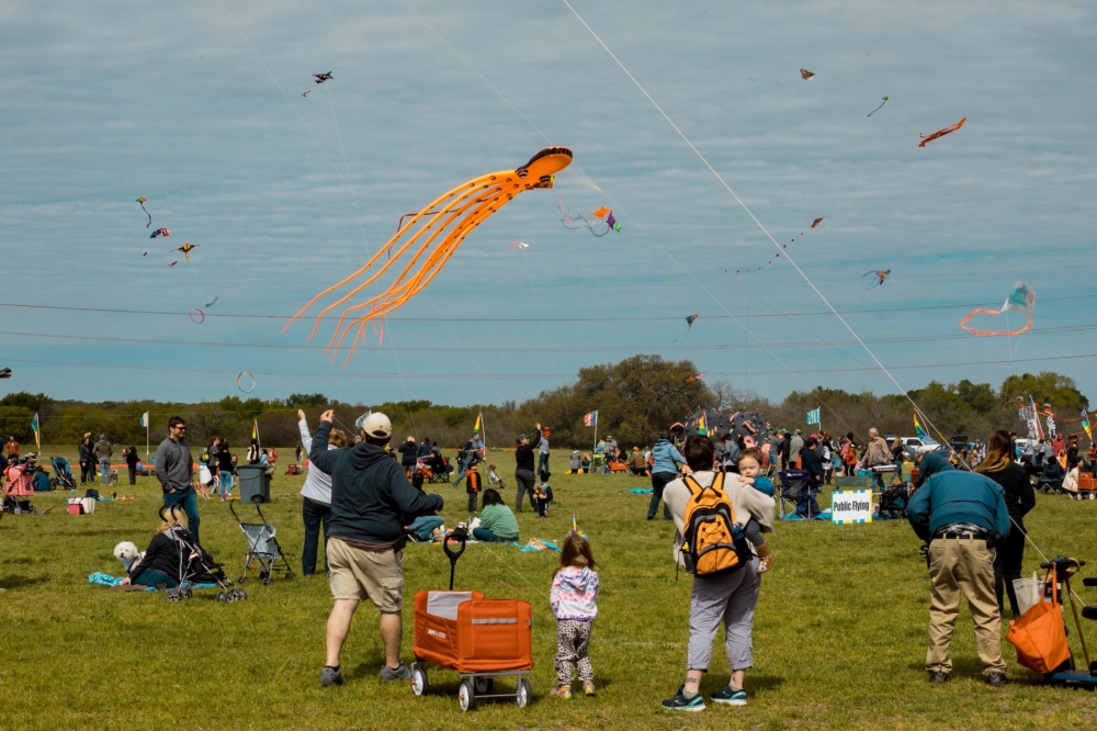 Fest of Tails Kite Festival and Dog Fair, a popular spring event, will make its fall edition debut at McAllister Park. (Courtesy San Antonio Parks Foundation)