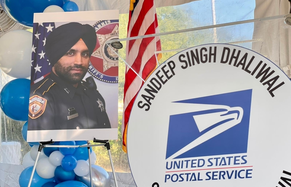 The Deputy Sandeep Singh Dhaliwal Post Office is located at 315 Addicks Howell Road, Houston. (Courtesy Harris County Sheriff's Office)