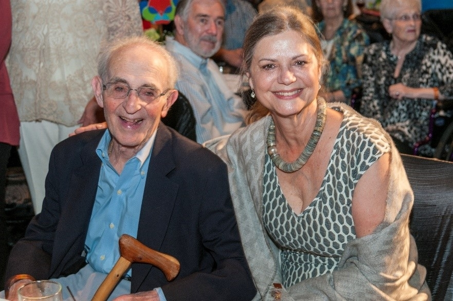 A new arts grant is named for the late David Gottlieb, pictured here with his wife, Brenda, at The Woodlands Waterway Arts Festival's Art Dash Party in 2016. (Courtesy The Woodlands Arts Council)