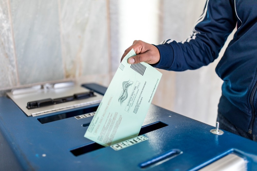 Ballot being mailed