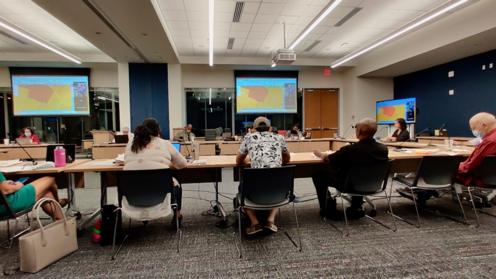 Austin's Independent Citizens Redistricting Commission approved its final City Council district map draft Oct. 6. (Ben Thompson/Community Impact Newspaper)