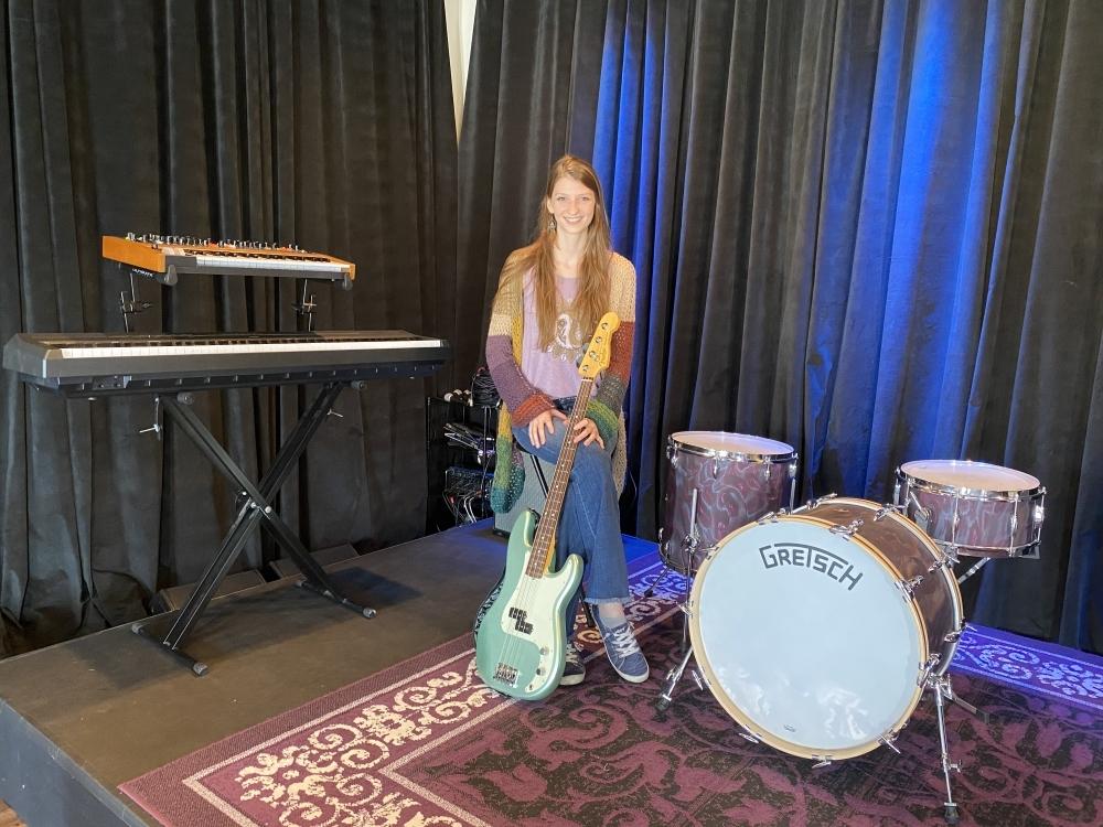 Radha Windham originally opened Radha School of Music in 2016 at the age of 18. (Trent Thompson/Community Impact Newspaper)
