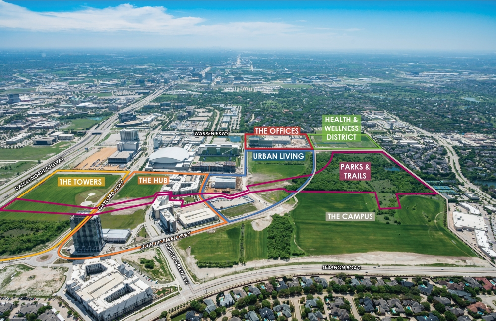 Frisco Station's Health and Wellness District will be adjacent to The Star. (Courtesy Cambridge Holdings)