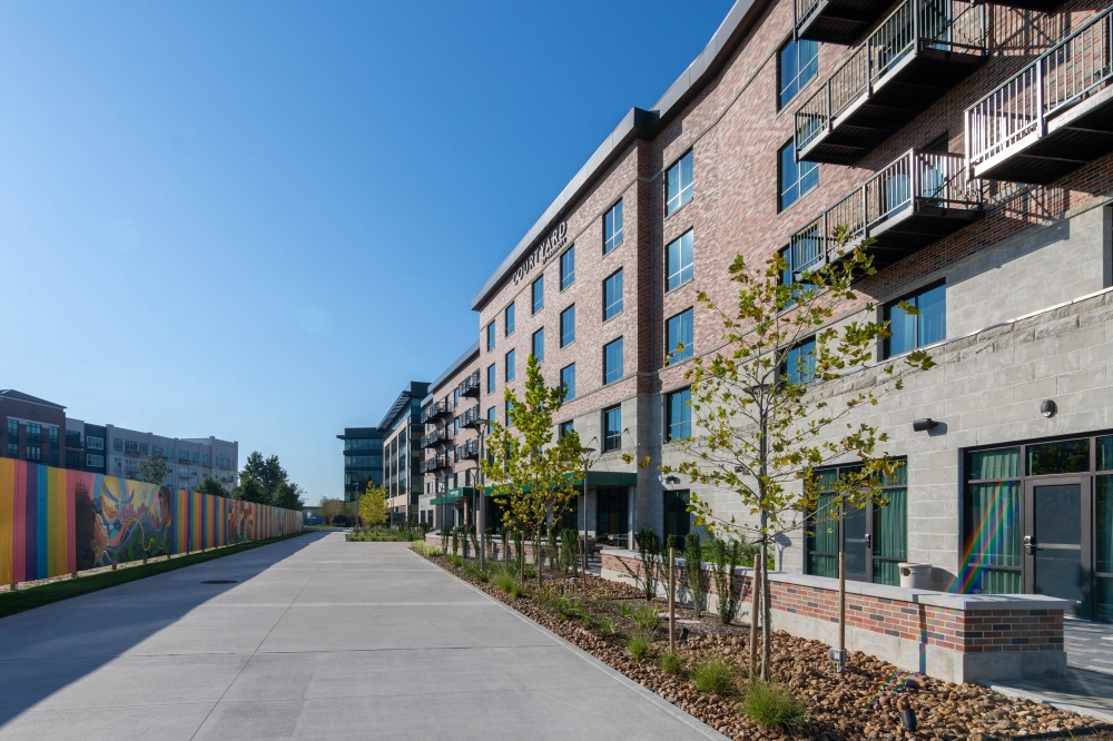 Courtyard by Marriott, a brand of hotels owned by Marriott International, opened a new location on Oct. 7 in master-planned community Generation Park, 250 Assay St., Houston. (Courtesy of McCord Development)