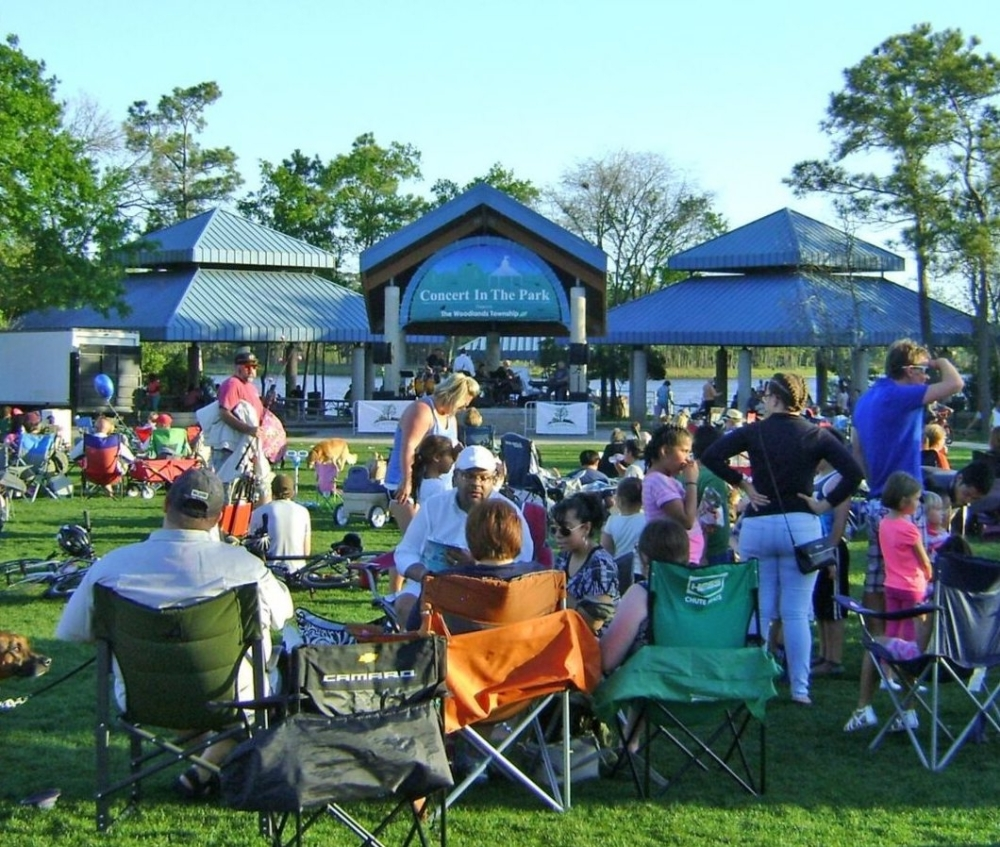 The Concert in the Park series resumed this fall. (Courtesy The Woodlands Township)