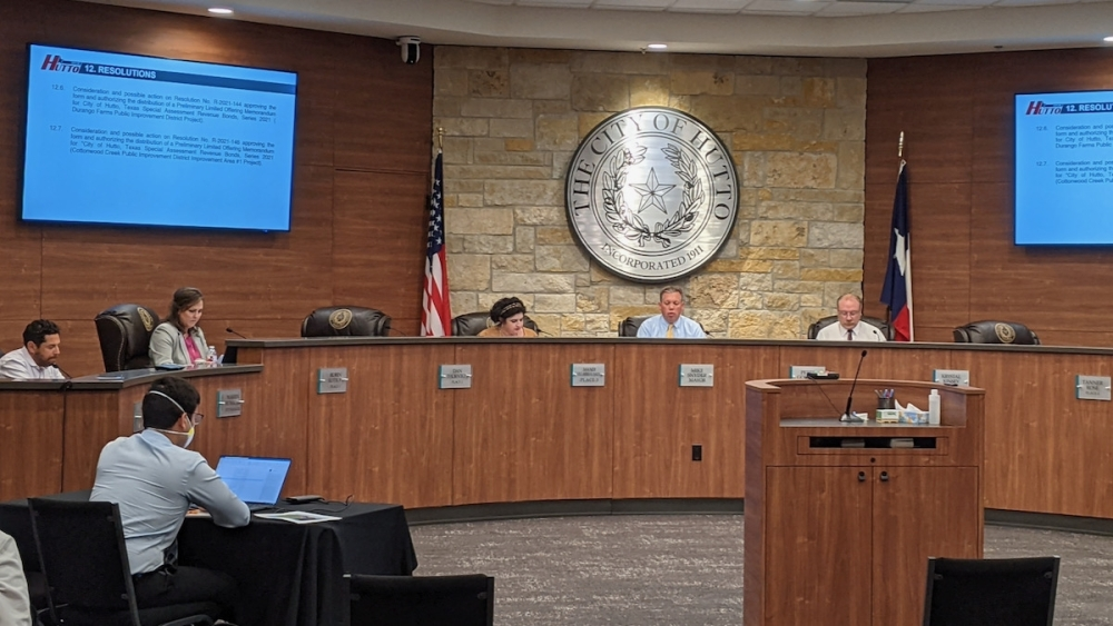 Hutto City Council took action advancing the development of a 263-acre parcel of land Oct. 7. (Carson Ganong/Community Impact Newspaper)