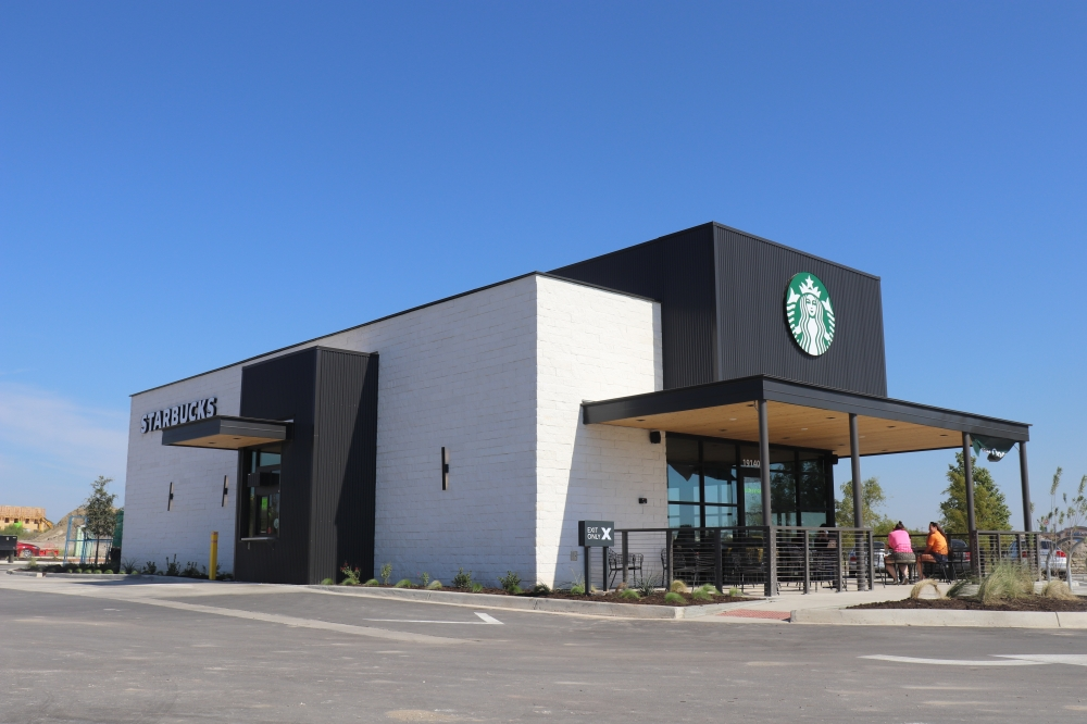 A new Starbucks location is open at 19140 I-35, Kyle. (Zara Flores/Community Impact Newspaper).
