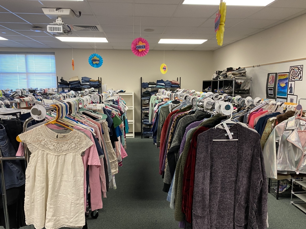 The new south clothes closet is located at Four Points Middle School in Austin. (Courtesy Dannielle Romero-Vázquez)