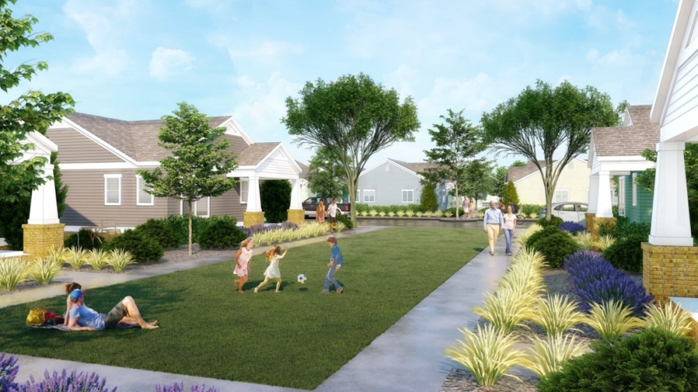 This conceptual rendering is based on other communities from Avanta Residential. Designs for the Avendale community are still being planned. (Rendering courtesy Avanta Residential)