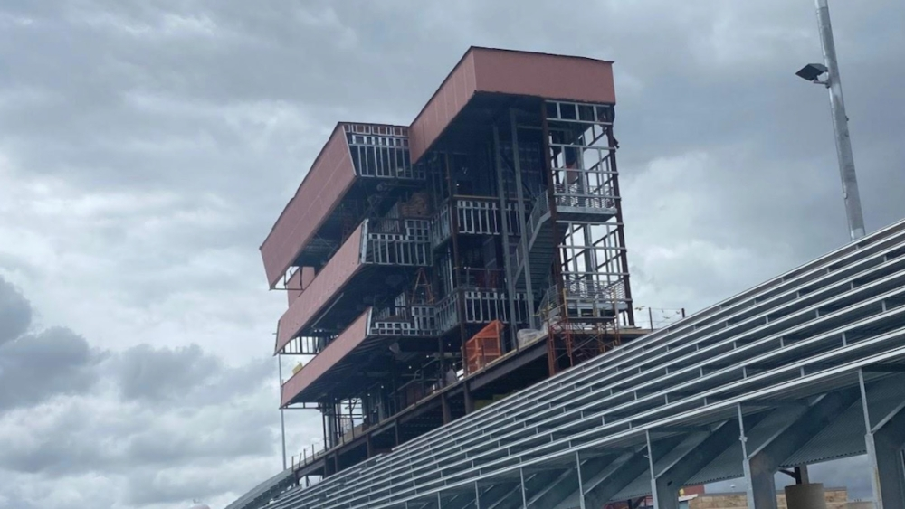 The opening of Hutto Memorial Stadium has been rescheduled following rain-related delays in construction. (Courtesy Hutto ISD)