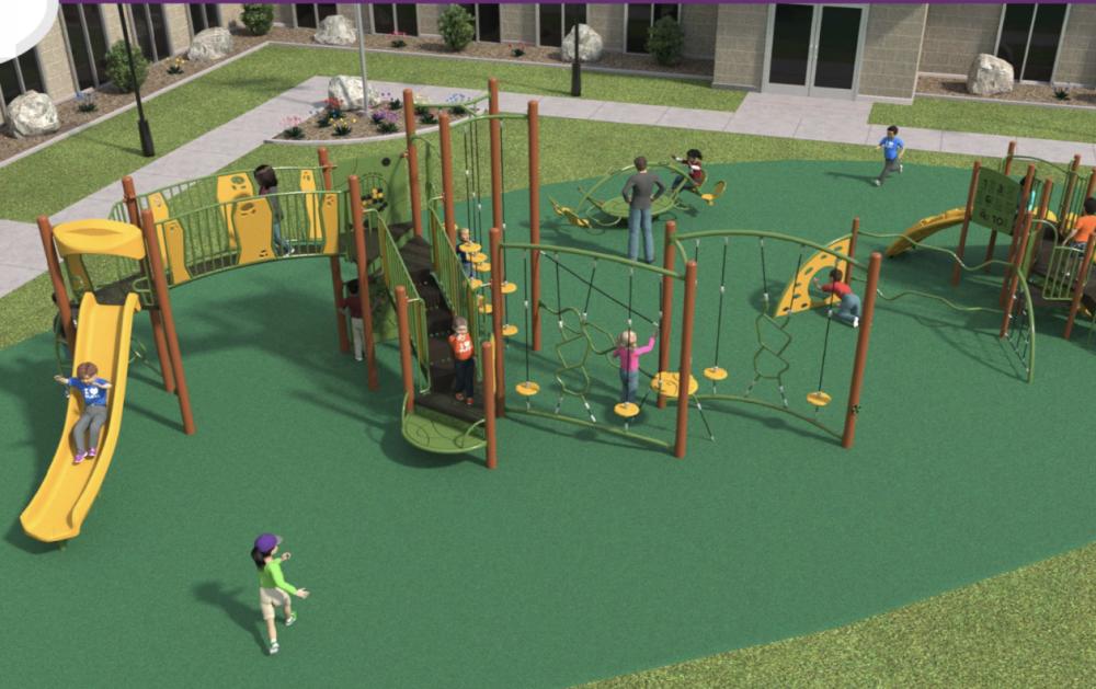 Council members hope to renovate Teddy Bear Park. (Rendering courtesy Oak Ridge North)
