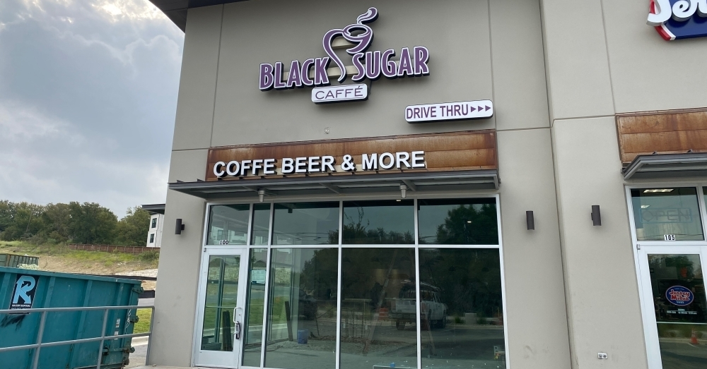 Black Sugar Caffe is expecting a soft opening Oct. 14. (Brooke Sjoberg/Community Impact Newspaper)