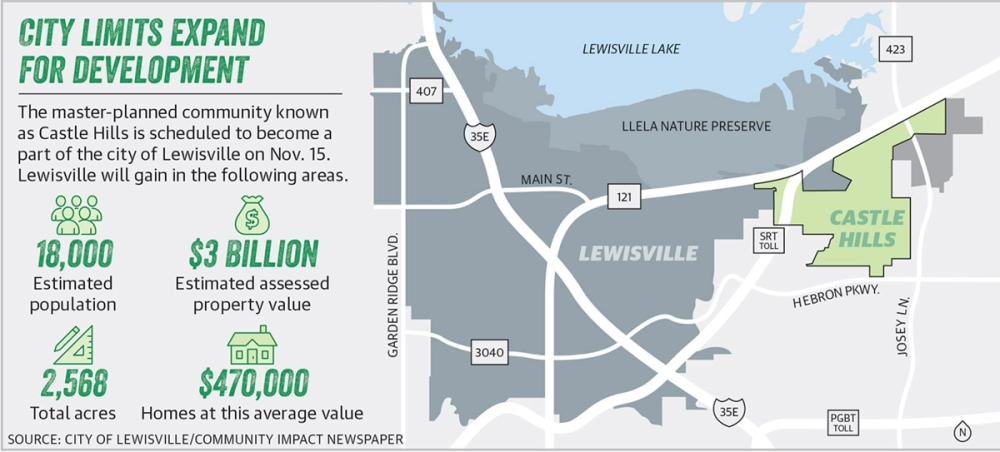 This map shows the area of Castle Hills, which will become a part of the city of Lewisville once annexation is completed. (Community Impact Newspaper)