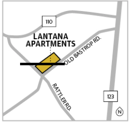 The Lantana Apartments will have 163 income-restricted units. San Marcos median family income  (MFI) is $98,900. Rent prices will be based off of 30-70% of MFI. (Source: U.S. Department of Housing and Urban Development/Community Impact Newspaper)