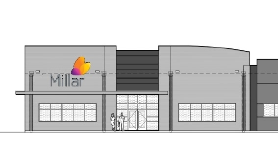 Rendering of the new Millar facility that is expected to open in Pearland in 2022. (Rendering courtesy Pearland Economic Development Corporation)